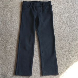 Gymboree Straight Leg Black Pants w/Heart Pockets